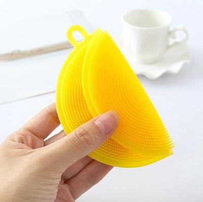 Antibakteriální silikonová mycí houbička oranžová