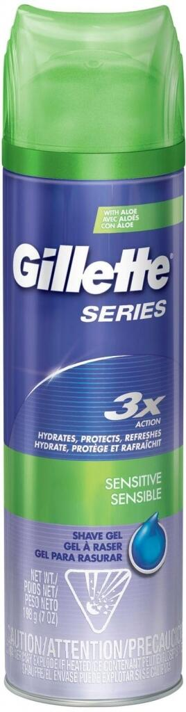 Gillette Series 3x Action Sensitive gel na holení 200 ml